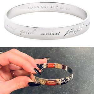 Kate spade idiom silver plate quick curious bangle